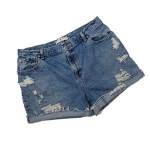 Tommy Hilfiger Vintage High Rise Distressed Shorts